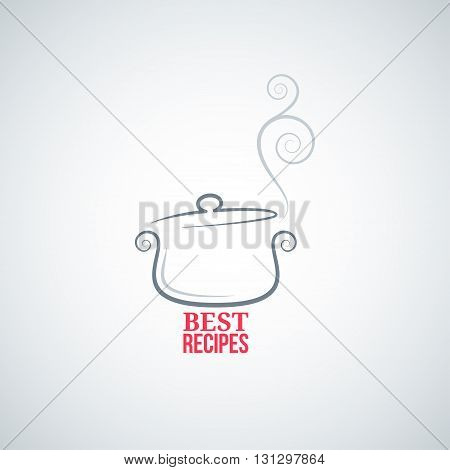 saucepan ornament background cooking chef 8 eps