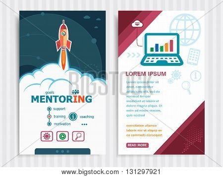 Project Mentoring Concepts And Set Of Banners.