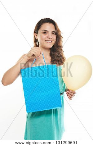 Girl Hold Bag With Gift
