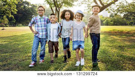 Active Child Childhood Children Offspring Park Concept