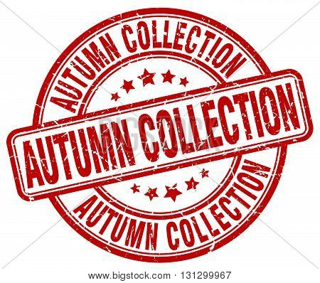 autumn collection red grunge round vintage rubber stamp.autumn collection stamp.autumn collection round stamp.autumn collection grunge stamp.autumn collection.autumn collection vintage stamp.