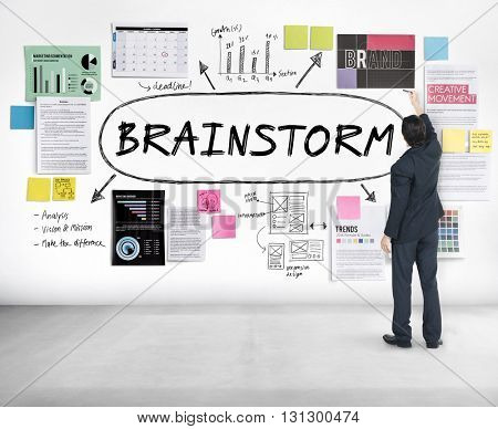 Brainstorm Inspiration Ideas Analysis Concept