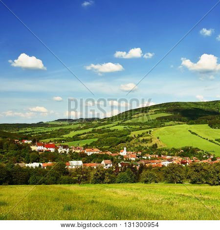 Beautiful landscape in the mountains in summer. Czech Republic - the White Carpathians - Europe.