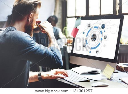 Global Communication Networking Connect Concept
