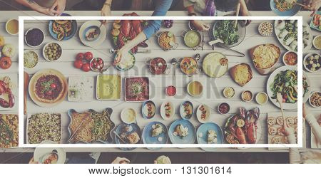 Lunch Party Food and Drink Concept