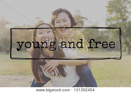 Young Free Youth Bonding Cheerful Family Concept