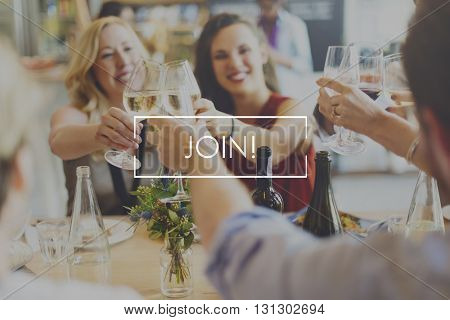 Join Food Eating Delicious Party Celebration Concept
