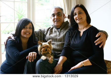 Portrait Of Beautiful Asian Family
