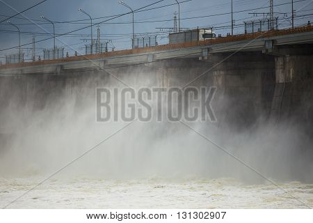 Hydroelectric Power Plant On The Volga