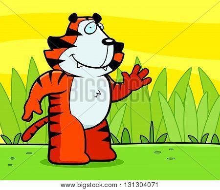 Tiger Waving