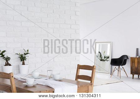Loft Design In White Space