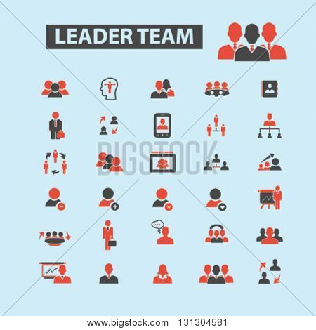 leader team icons