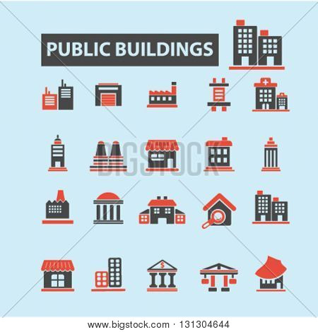 public buildings icons