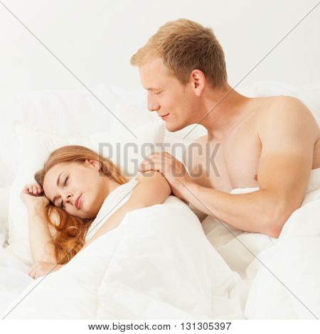 Men Waking Up His Lover
