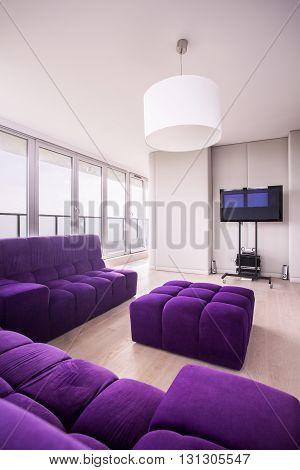 Relaxing Area In Modern Flat