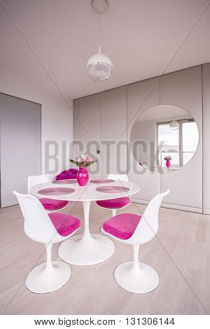 White Small Table With Chairs