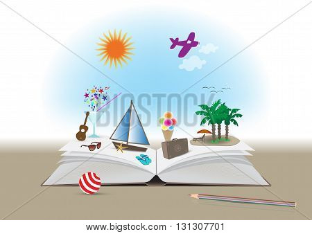 Open Magic Book for a Amazing Summer