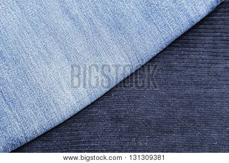 corduroy pants and blue jeans for use as background