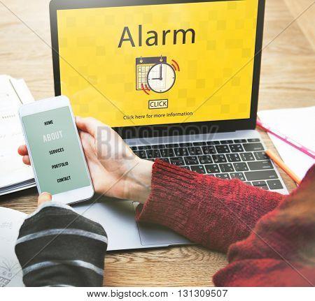 Alarm Alert Important Notice Schedule Concept