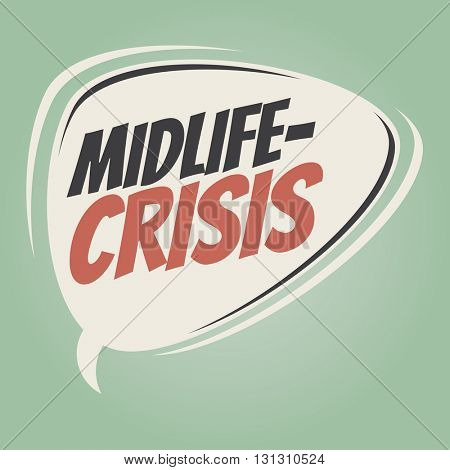 midlife-crisis retro speech balloon