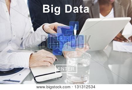 Big Data Information Cloud Technology Concept