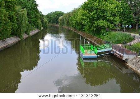 timisoara city romania bega river boat transportation station