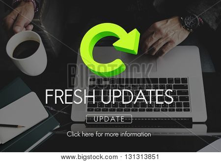 Fresh Updates Website Webpage Networking Concept