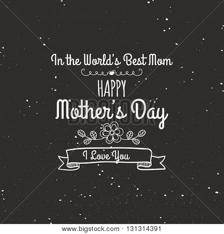 abstract mother day label on a special background