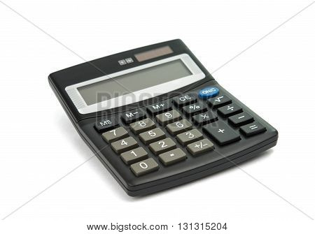 division, finance, Calculator isolated on white background