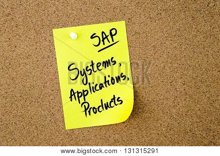 Business Acronym Sap Systems, Applications, Products