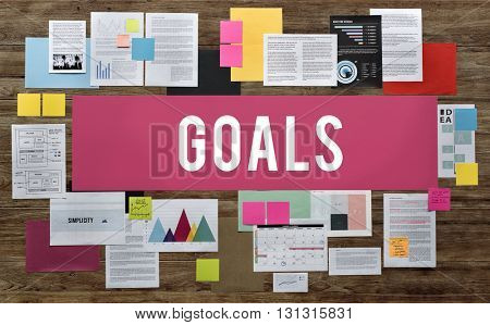 Goals Inspiration Target Motivation Mission Aim Concept