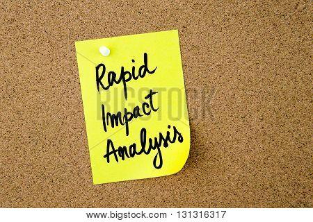 Rapid Impact Analysis Written On Yellow Paper Note