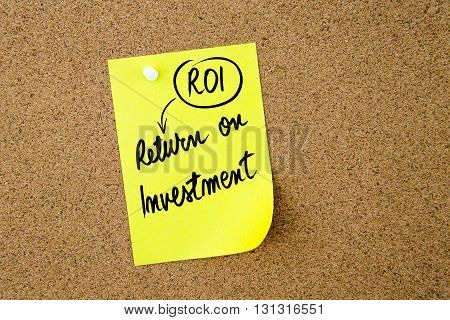 Business Acronym Roi Return On Investment