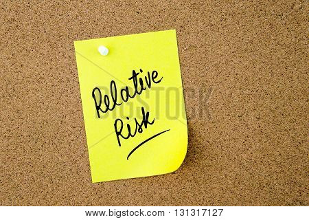 Relative Risk Written On Yellow Paper Note