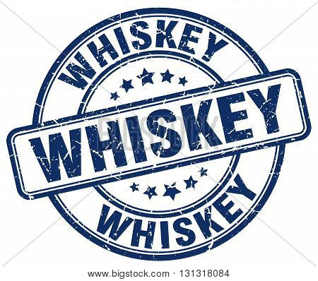 Whiskey Blue Grunge Round Vintage Rubber Stamp.whiskey Stamp.whiskey Round Stamp.whiskey Grunge Stam