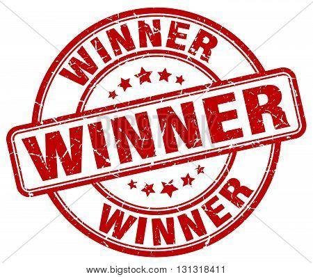 Winner Red Grunge Round Vintage Rubber Stamp.winner Stamp.winner Round Stamp.winner Grunge Stamp.win