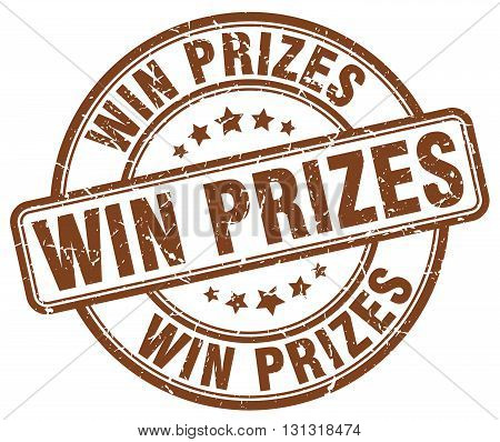 Win Prizes Brown Grunge Round Vintage Rubber Stamp.win Prizes Stamp.win Prizes Round Stamp.win Prize