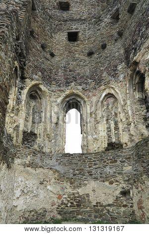 Ruins of Gothic Okor castle, Czech republic