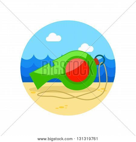 Whistle vector icon. Beach. Summer. Summertime. Vacation eps 10