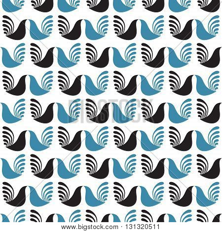 Seamless pattern. Abstract ethnic pattern. Geometric birds pattern Textile birds pattern. Cocks pattern.