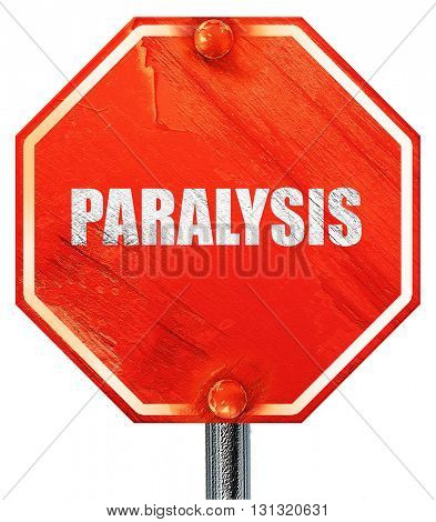 paralysis, 3D rendering, a red stop sign