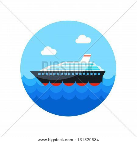 Cruise transatlantic liner vector icon. Beach. Summer. Summertime. Vacation eps 10
