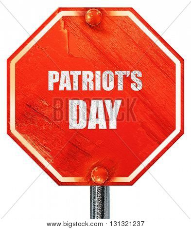 patriot's day, 3D rendering, a red stop sign