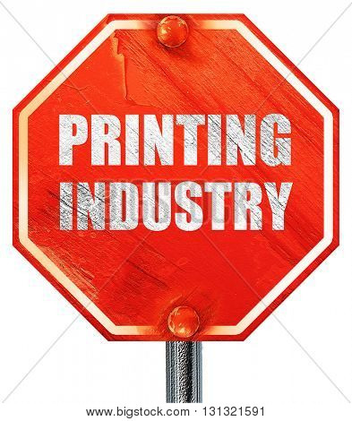 printing industry, 3D rendering, a red stop sign