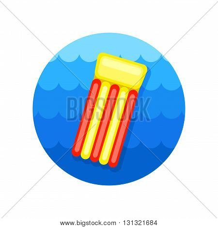Floating mattress on beach vector icon. Beach. Summer. Summertime. Vacation eps 10