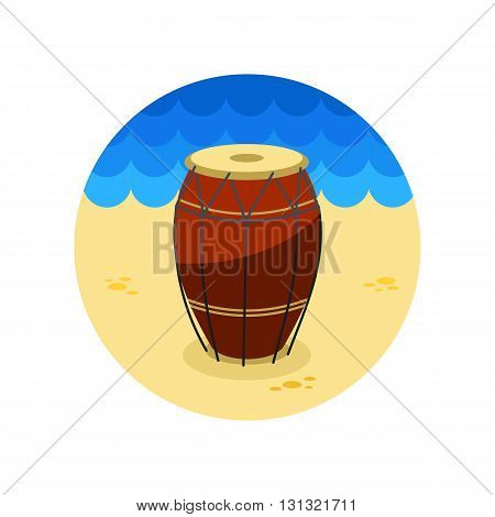 Drum vector icon. Beach. Summer. Summertime. Vacation eps 10