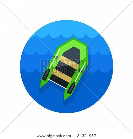 Inflatable boat vector icon. Beach. Summer. Summertime. Vacation eps 10