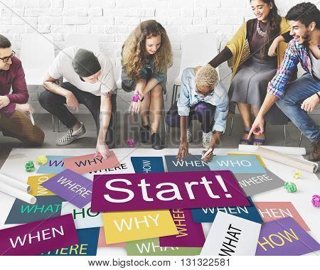 Start Beginning Startup Launch Forward Motivation Concept