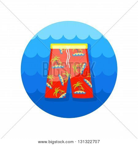 Men Beach Shorts vector icon. Beach. Summer. Summertime. Vacation eps 10
