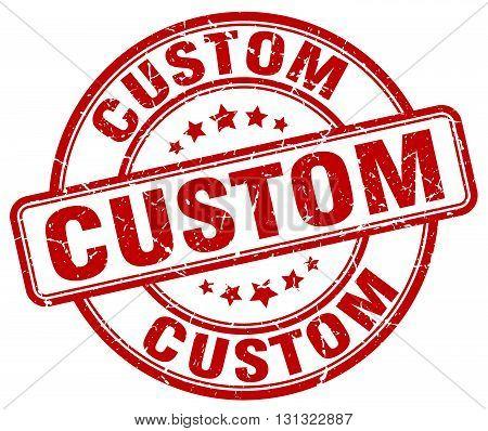 custom red grunge round vintage rubber stamp.custom stamp.custom round stamp.custom grunge stamp.custom.custom vintage stamp.